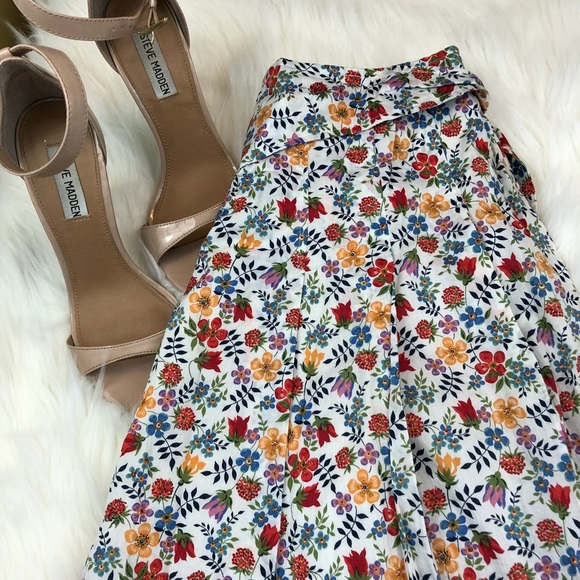 ac6910a7fb0 Cacharel Dresses & Skirts - Cacharel Floral Pleated Flared Lined Skirt
